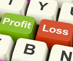 Profit Or Loss Keys Showing Returns For Internet Business